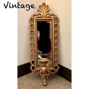 Vintage Homco Industries Regency Rococo Mirror